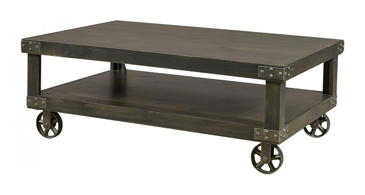 Industrial Cocktail Table in the Ghost Black finish