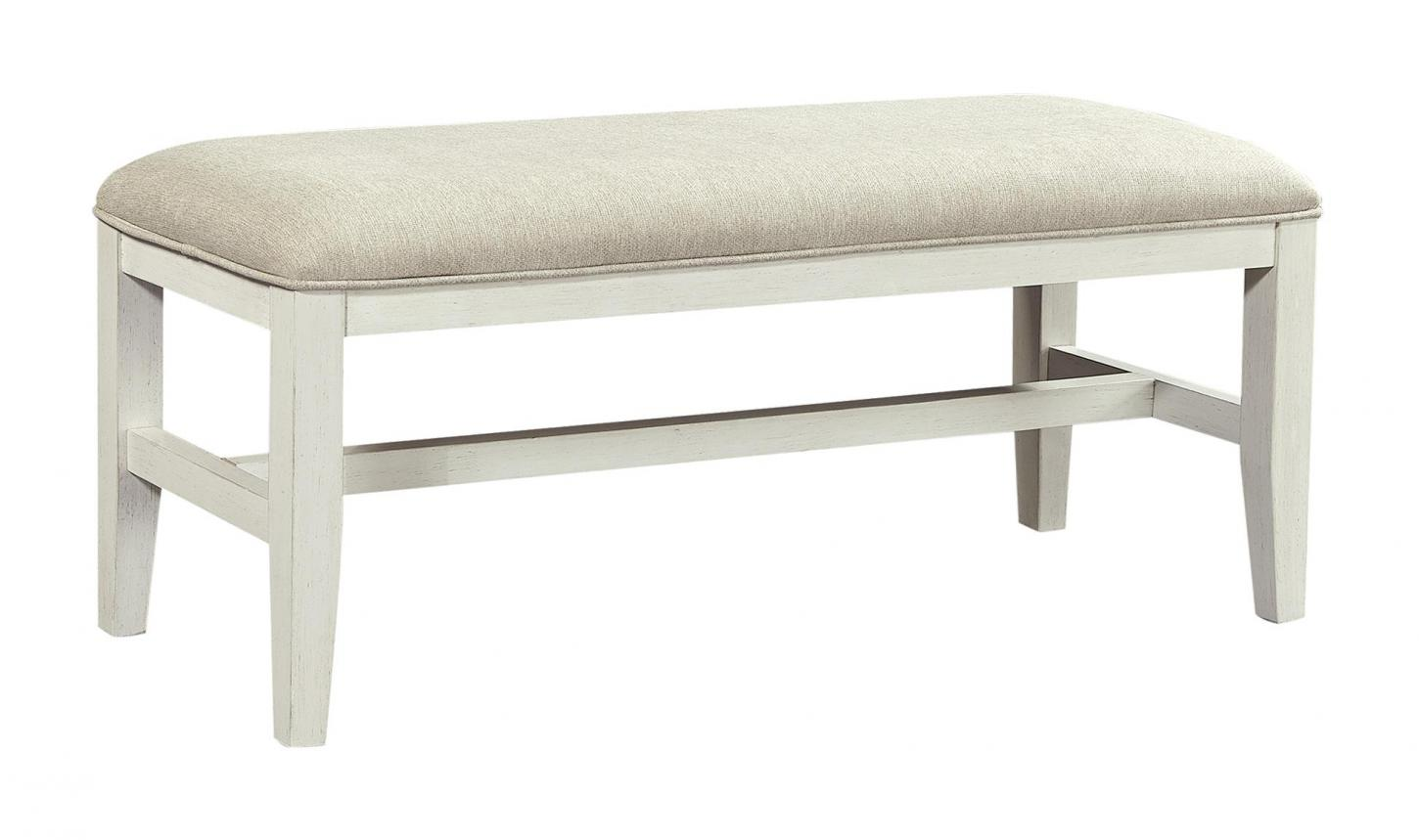 Charlotte Bench in the White finish