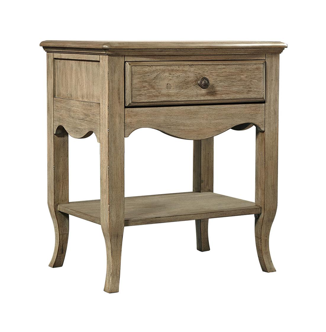 Provence 1 Drawer Nightstand in the Patine finish