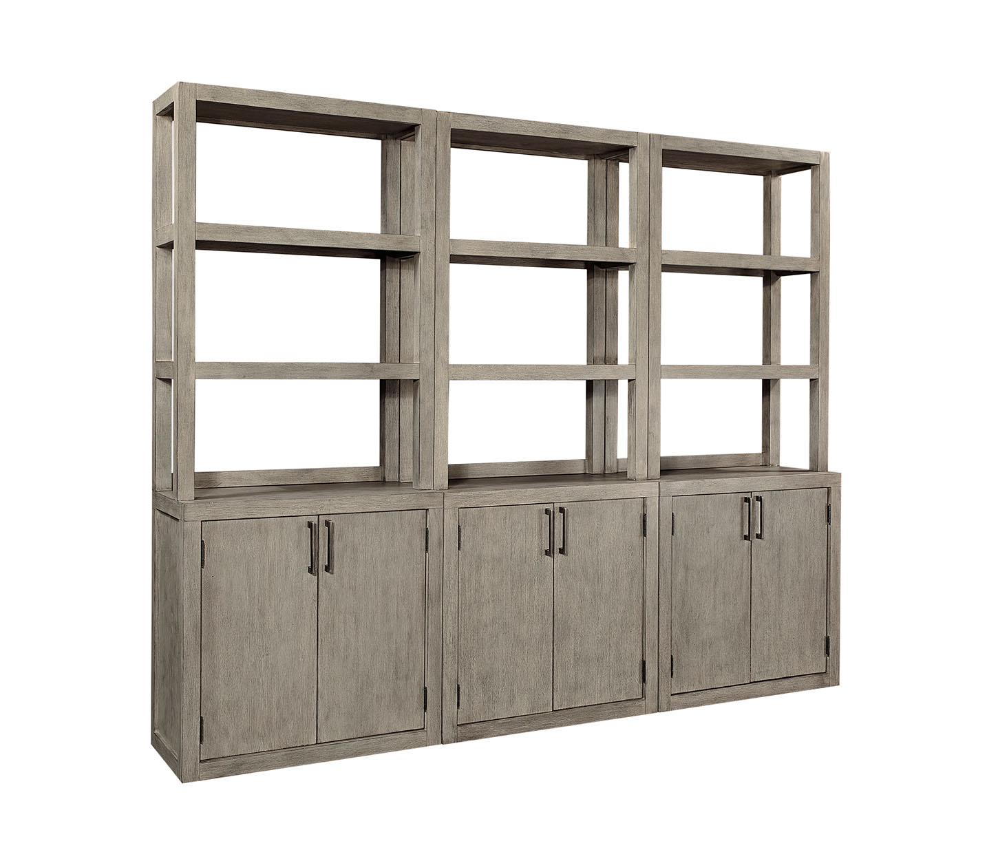Platinum Door Bookcase in the Gray Linen finish