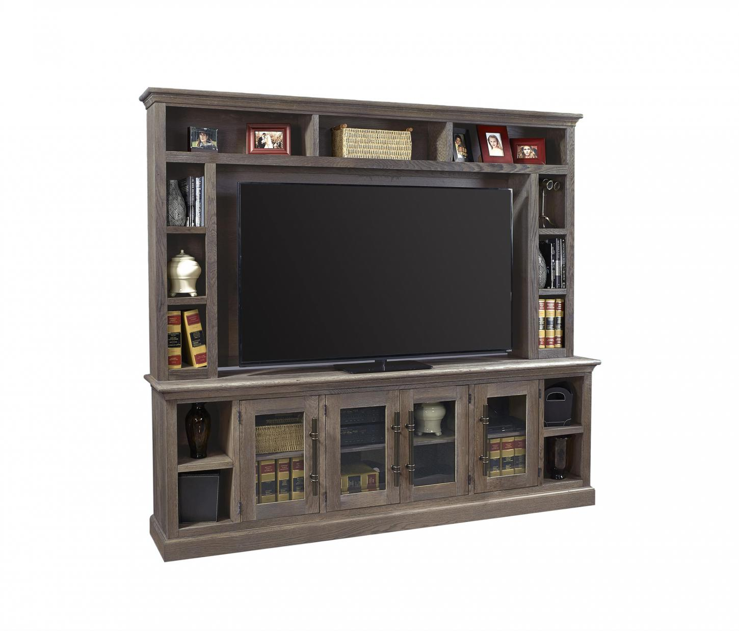 "Manchester 97"" Console & Hutch in the Barnhouse Brown finish"